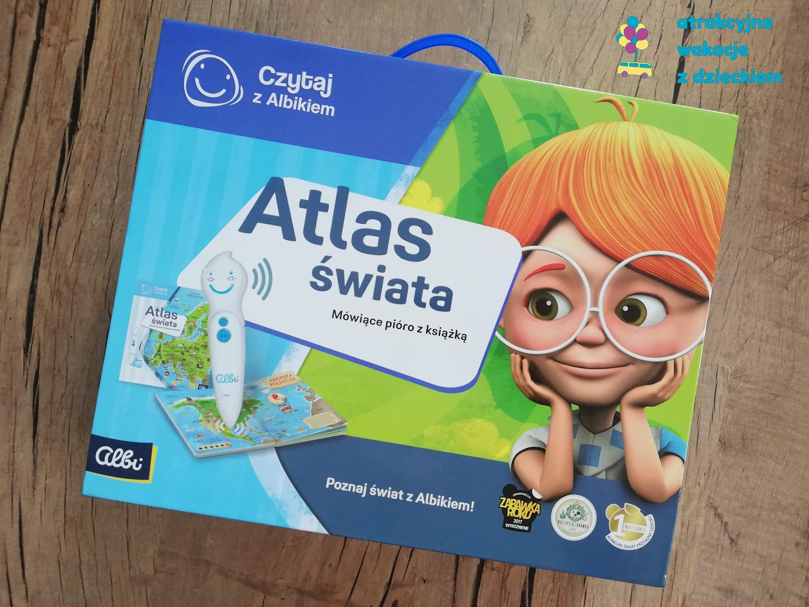 Zestaw atlas świata Albik