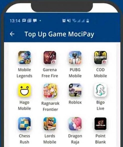Mocipay Top Up FF