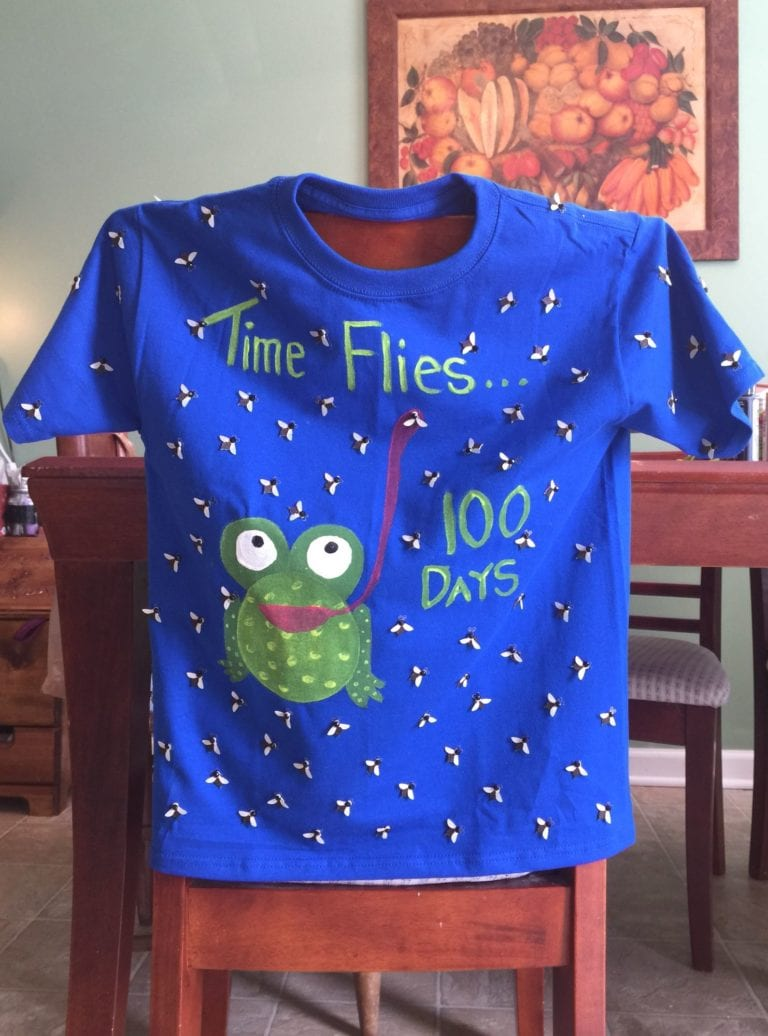 Time Flies in 100 Days - Funny 100 Days of School Shirt Idea