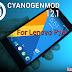 CyanogenMod 12.1 for Lenovo P70