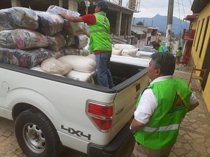 Se traslada a Chalchihuitan vía Simojovel para entregar ayuda humanitaria a las personas del Municipio