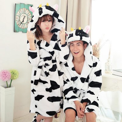 Cow Design Bathrobe
