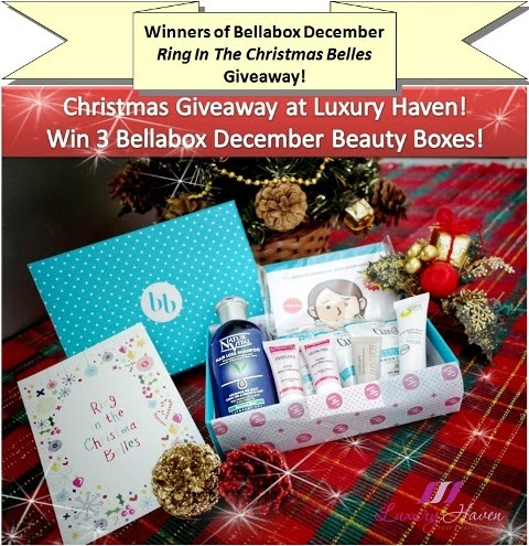 bellabox december ring in christmas belles giveaway winners
