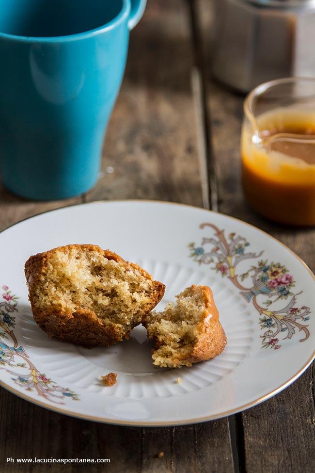 Foto di muffin con nocciole e caramello salato