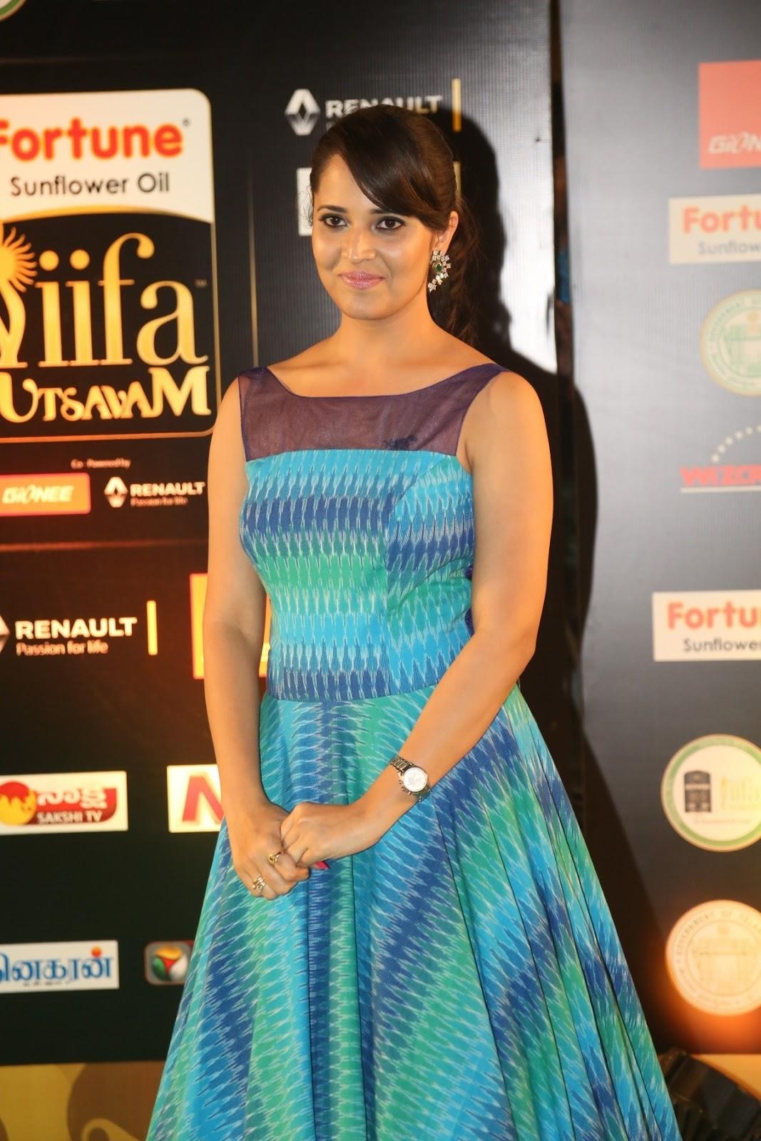 Anchor Anasuya Stills At IIFA Utsavam Awards