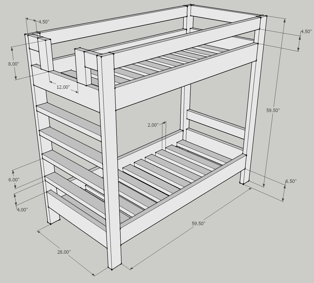 Standard Bed Sizes Bunk Bed Dimensions Anthropometric Measures Bunk Bed