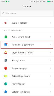 cara menampilkan icon aplikasi di status bar xiaomi