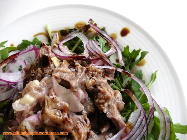 Rindfleischsalat mit Kürbiskernöl