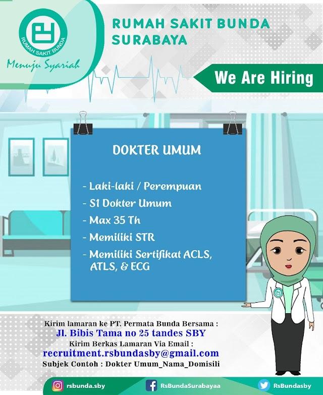 Loker Dokter RS Bunda Surabaya- Jawa Timur