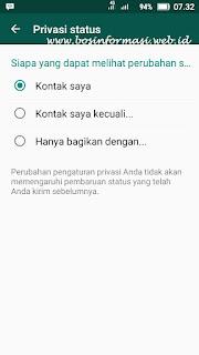 cara melihat privasi status di whatsapp terbaru