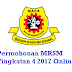 Permohonan MRSM Tingkatan 4 2017 Online