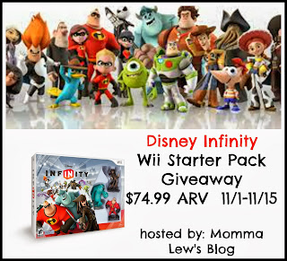 Enter to win a Disney Infinity Wii Starter Pack. Giveaway ends 11/15.