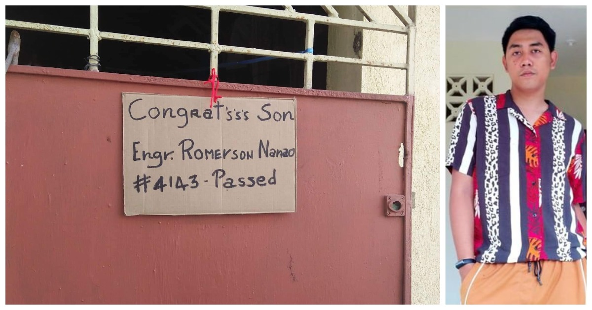 Proud dad goes viral for handwritten announcement on cardboard as son becomes engineer