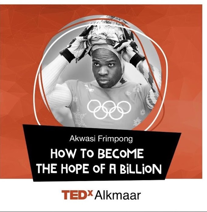 Ghana's Skeleton Olympian, Akwasi Frimpong Honored To Be On One Of The Main TEDx Speakers At TEDx Alkmaar In The Netherlands On January 21