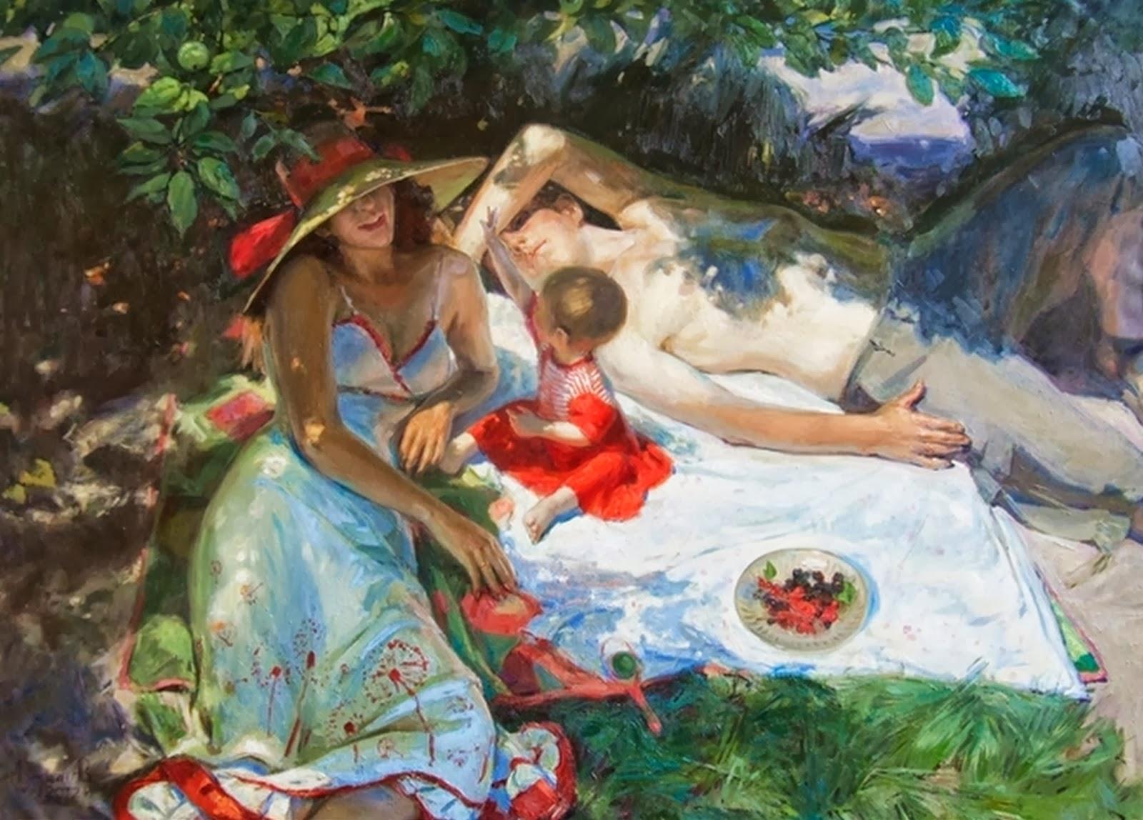 Отдых в картинах художников