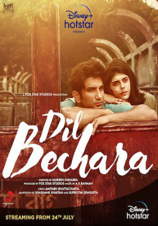 Dil Bechara 2020 WEB-DL 300Mb Hindi Movie Download 480p Watch Online Free Bolly4u
