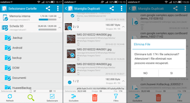Ricerca dei file duplicati app Android