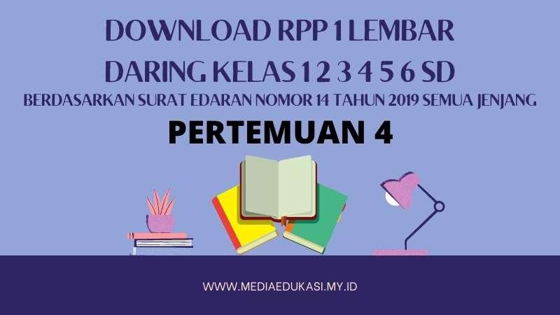 Download RPP 1 Lembar Daring Kelas 1 2 3 4 5 6 SD/MI Pertemuan 4 Kamis 6 Januari 2020