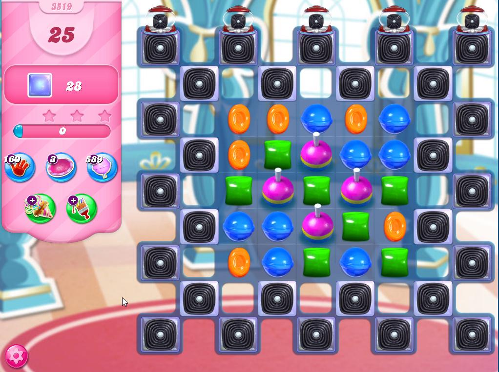 Candy Crush Saga level 3519