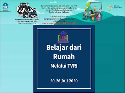 jadwal bdr tanggal 20-26 Juli 2020 di tvri