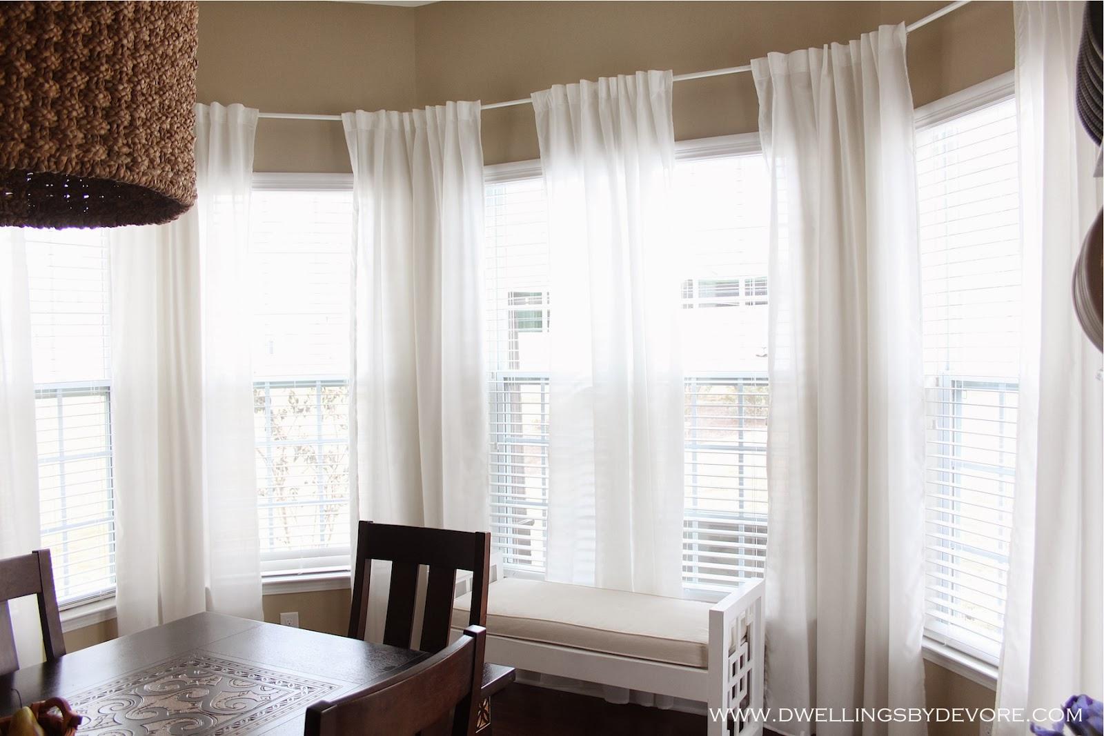 dwellings by devore bay window curtains. Black Bedroom Furniture Sets. Home Design Ideas