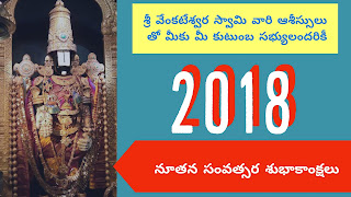 Sri Venkateswara Swamy New Year Greetings Ultra HD Quality in Telugu Language