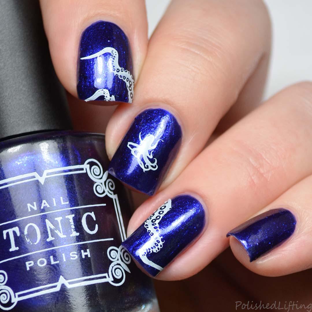 Q Riouser Q Riouser Nail Art: Polished Lifting: Octopus Nail Art Feat. Tonic Nail Polish
