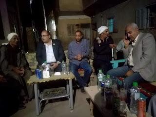 بحضور المئات  طوبيا نائب الشعب يستمع لمطالب اهالي عزبه علام نجع حمادي قنا