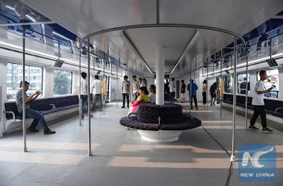 Interior of Transit Elevated Bus