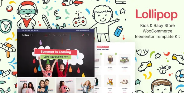 Best Kids and Baby Store WooCommerce Elementor Template Kit