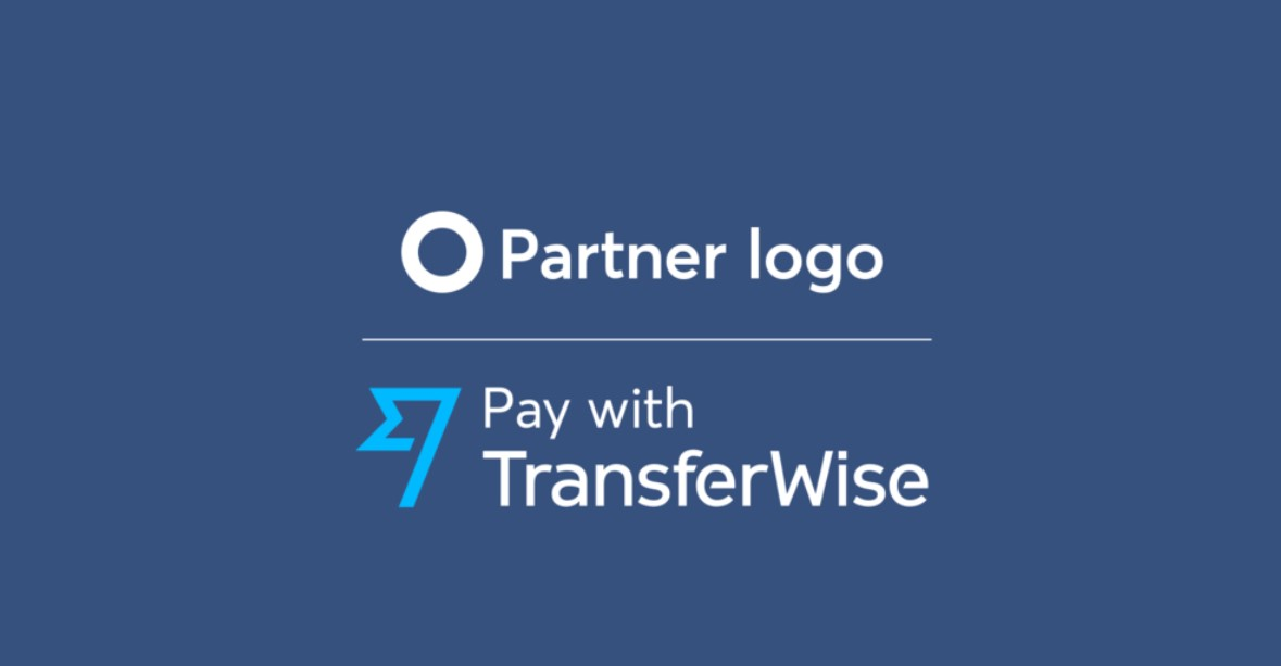 Logo branding Pay with TransferWise
