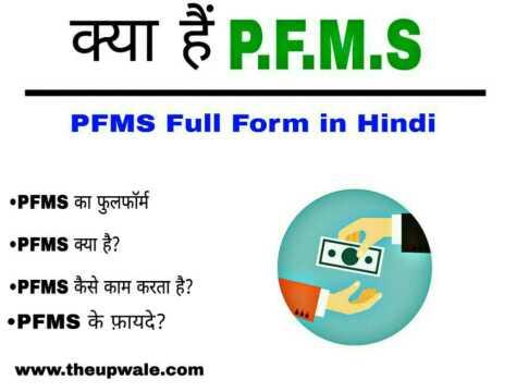 PFMS Full Form in Hindi - PFMS क्या है पूरी जानकारी