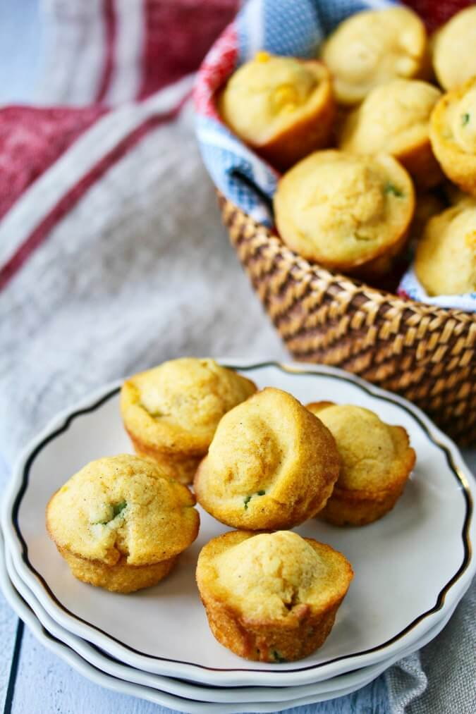 Jalapeño Corn Muffins with Cheddar Butter