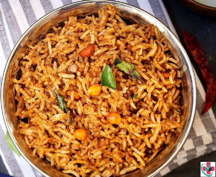 Tangy and spicy tamarind rice