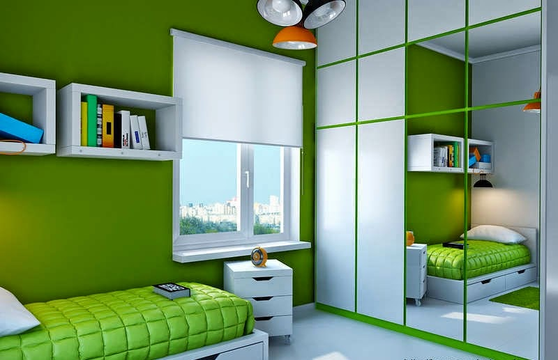 Habitaciones para adolescentes color verde dormitorios - Colores para pintar una habitacion pequena ...
