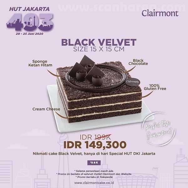 Promo Clairmont Spesial HUT Jakarta 493 Periode 20 - 25 Juni 2020