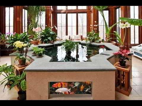 Taman Minimalis Dalam Rumah Ada Kolam Ikan