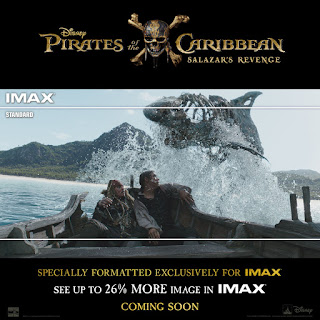 pirates of the Caribbean 5 imax comparision