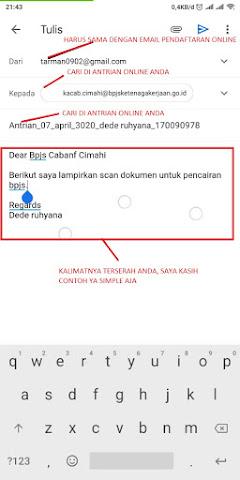 Cara Kirim Email Pencairan BPJS Ketenagakeraaj - 03
