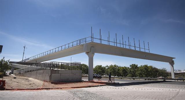 Puente peatonal elevado de La Pradera presenta un avance del 50%