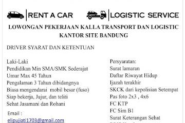 Lowongan Kerja Driver untuk Kalla Transport & Logistics