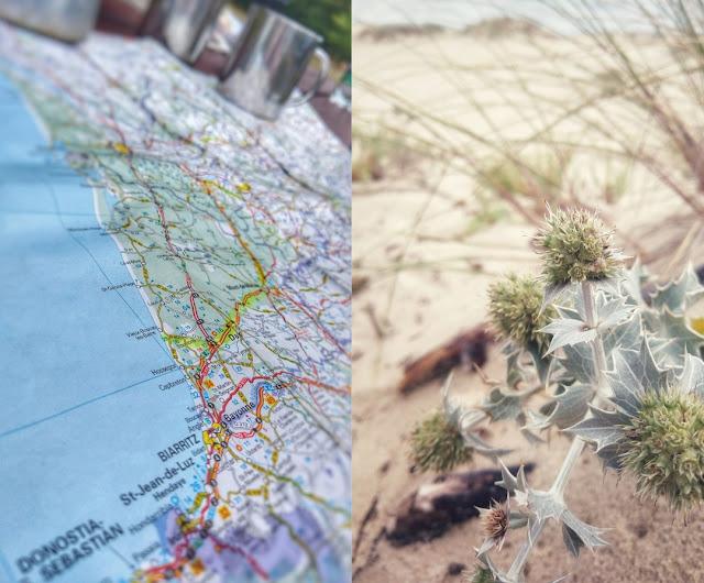 """Kartenausschnitt der Reise an die """"Silberküste"""" im Südwesten Frankreichs."""