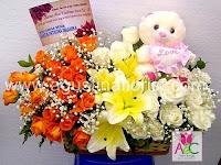 Jual Rangkaian Bunga Untuk Kado Ucapan Selamat Kelahiran Bayi ( Baby Born )