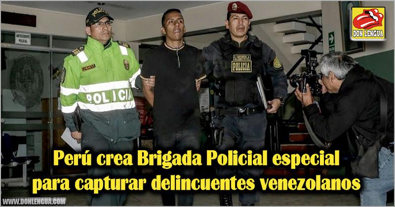Perú crea Brigada Policial especial para capturar delincuentes venezolanos