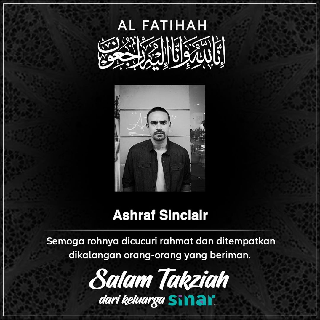 al fatihah ashraf sinclair meninggal dunia