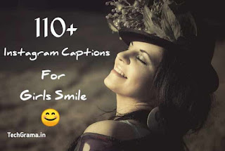 Instagram Captions For Girls Smile, Selfies, Love, Funny & Comments