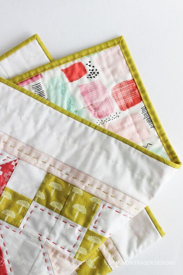 Baby Irish Vortex Quilt | Big Stitch Hand Quilted Binding | Quilt Binding Tutorial Part 3 | Shannon Fraser Designs #bigstitchquilting #handquilted #babyquilt
