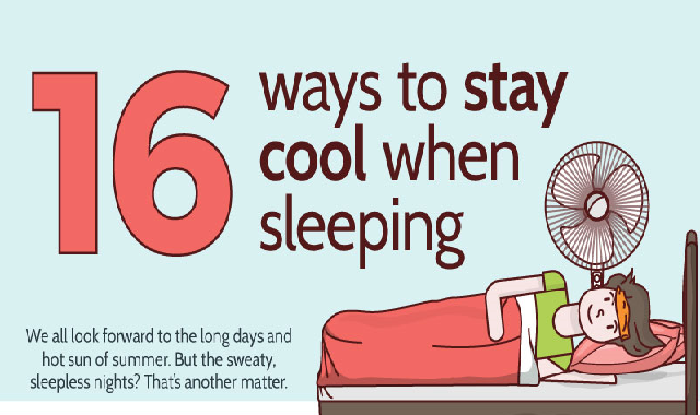 16 Ways To Stay Cool When Sleeping #infographic