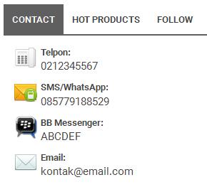 widget contact buku kita