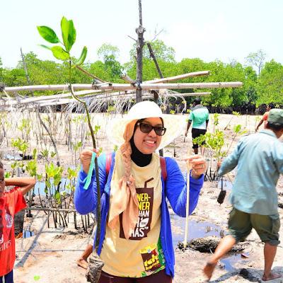 Menanam bakau di Pulau Papagarang